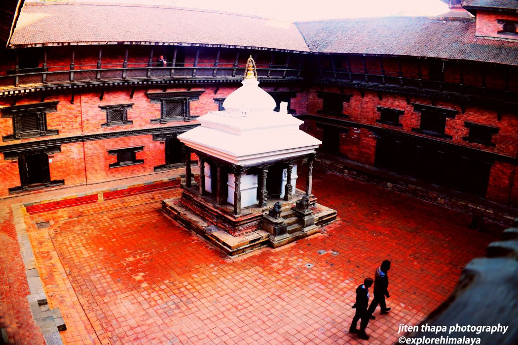 The chaityas (praying place) inside Patan Durbar Square