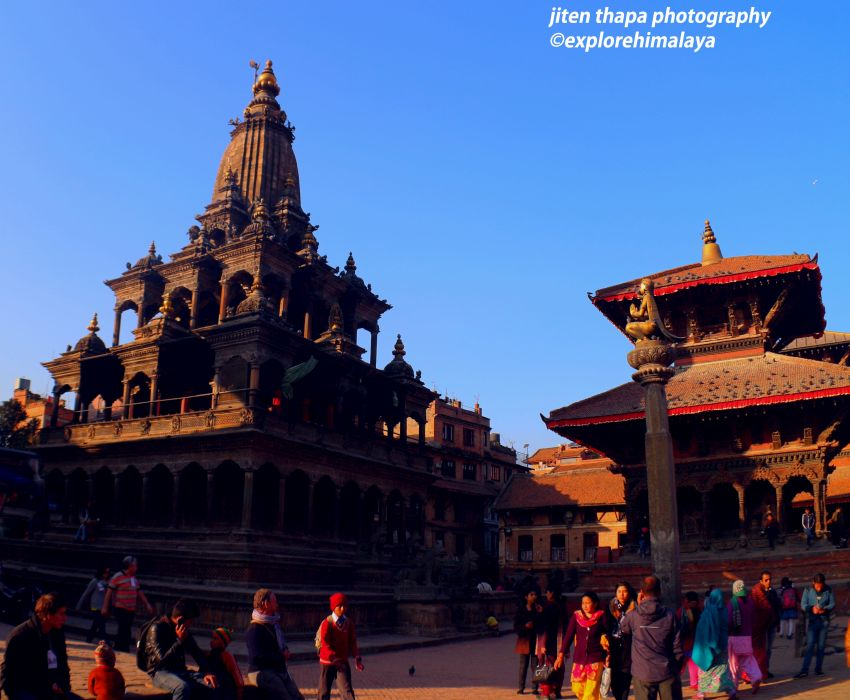 The sacred Krishna Temple at Patan Durbar Square