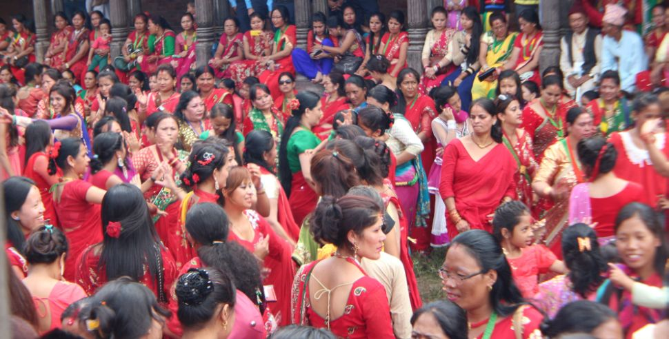 Legs won't get tired neither the music stops - women dance on Teej festival in Nepal