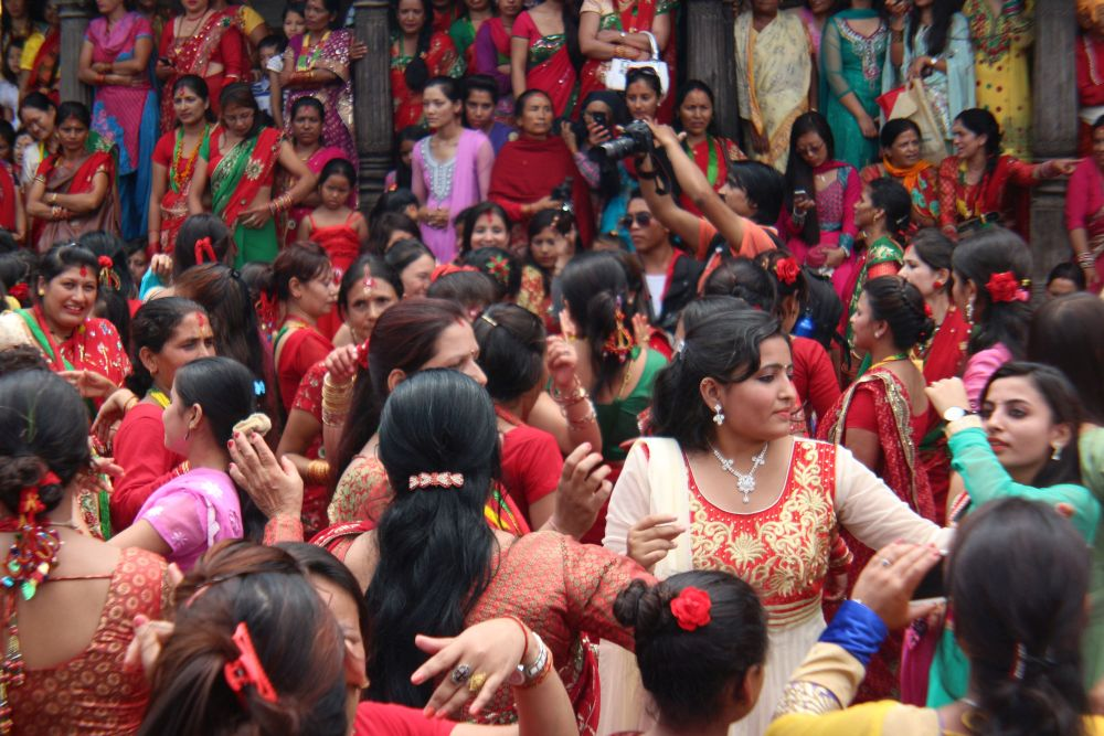 Celebration Hindu women wait every year for Teej festival