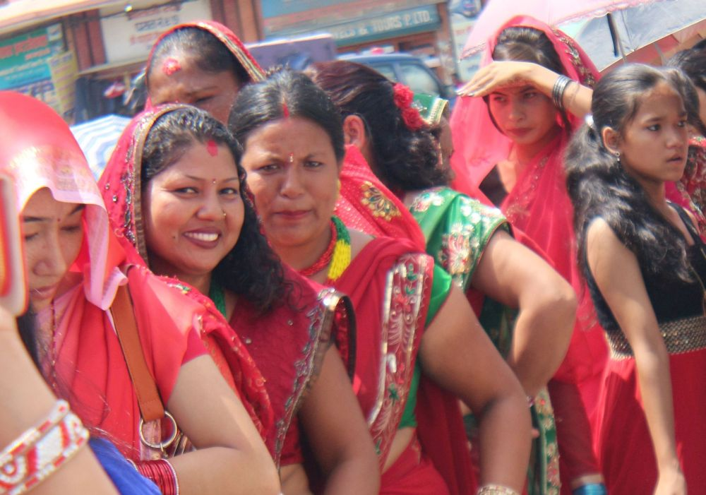 Hungry and thirsty still a smile dominates the face-its devotion - Teej festival in Nepal