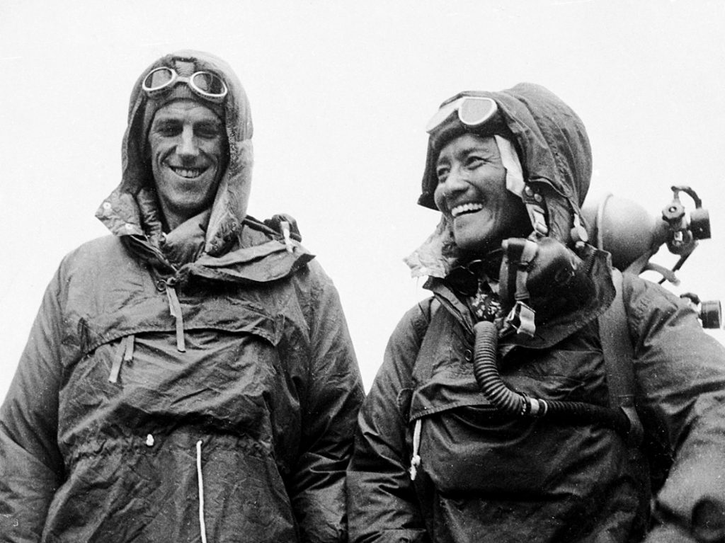 The first Everest climbers Sir Edmund Hillary and Tenzing Norgay Sherpa in 1953