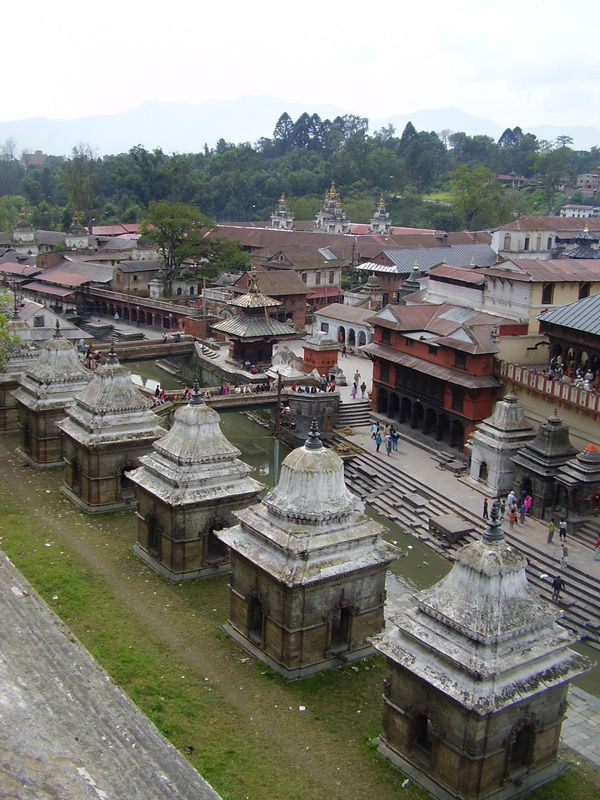 Line of small temples in Pashupatinath