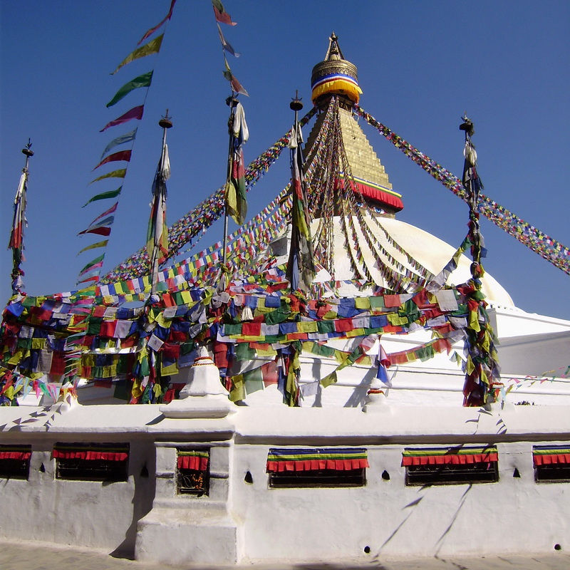 Fluttering holy flags- Boudhanath