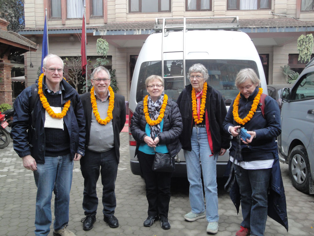 Danish visitors cordially welcomed at Kathmandu