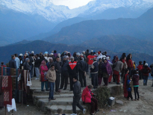 Sarangkot, a hilltop above Pokhara ideal for the sunrise view