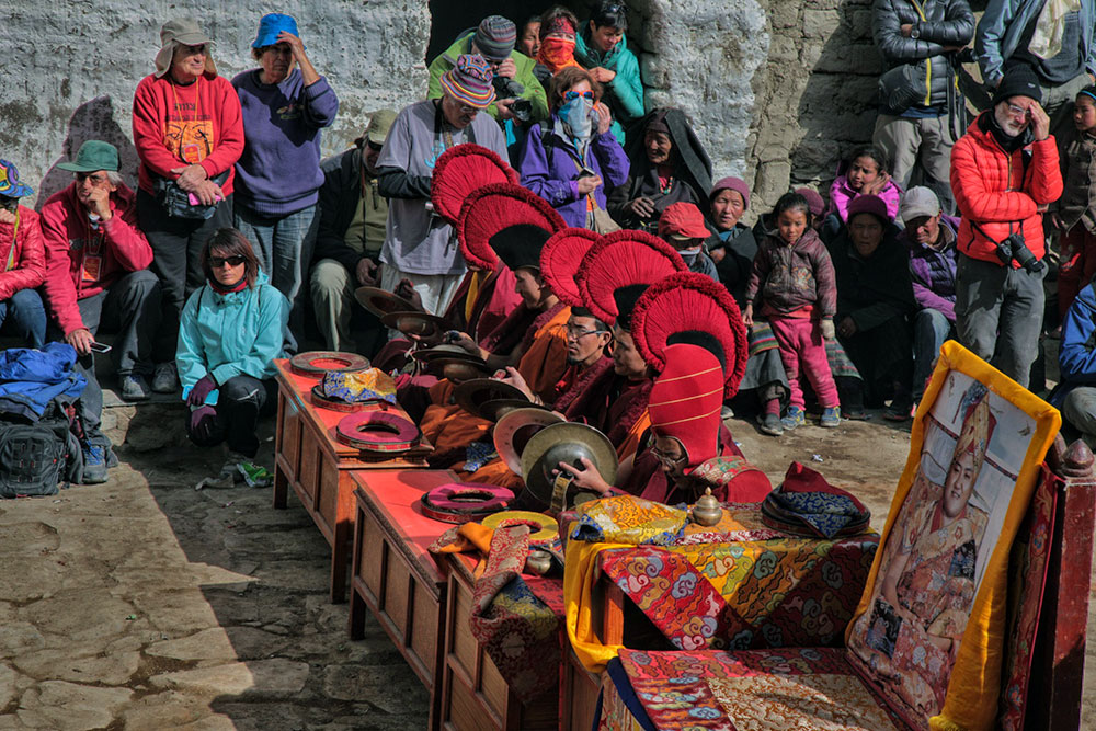 Celebrating Tiji in Upper Mustang