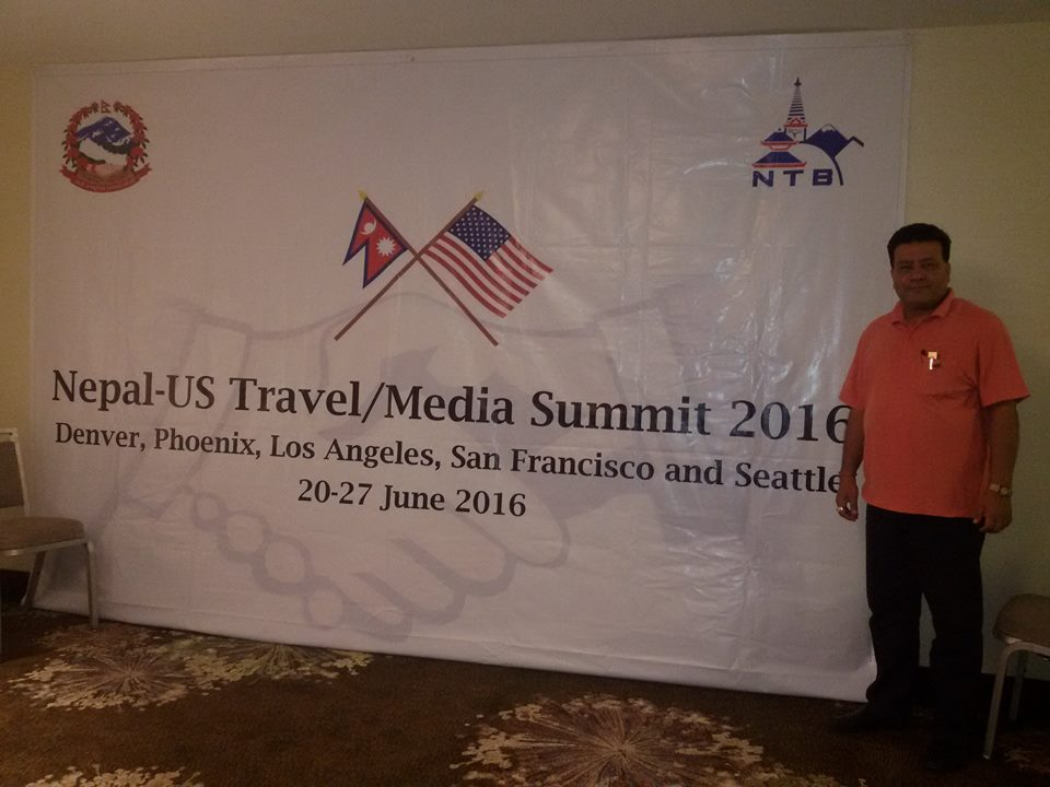 President of Explore Himalaya Mr. Suman Pandey at ending ceremony of US Travel/Media Summit 2016 in Seattle, US